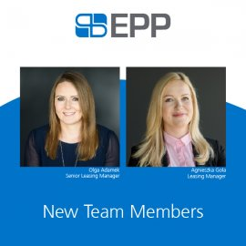 EPP's Leasing & Asset Management department is growing stronger